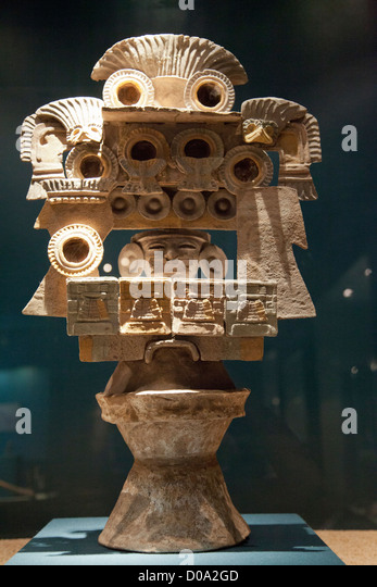 Museo De Sitio - Teotihuacan Museum in Mexico - Incense Brazier - Stock Image
