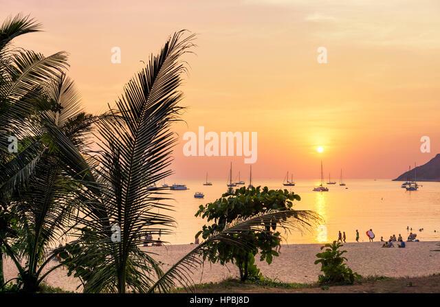Nai Harn Beach, Sunset, Phuket, Thailand - Stock Image