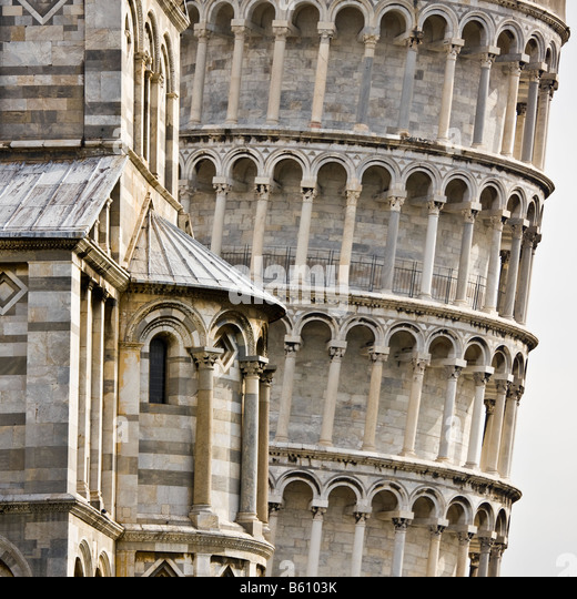 The leaning Tower of Pisa - Italy - Stock-Bilder