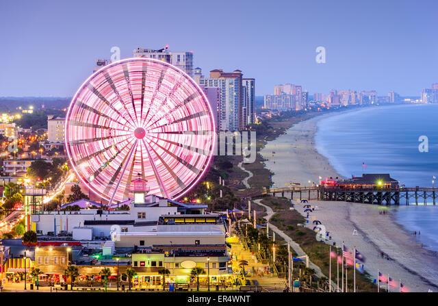 Myrtle Beach, South Carolina, USA city skyline. - Stock Image
