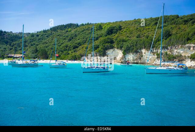 seascape of island of antipaxos near corfu,greece - Stock Image