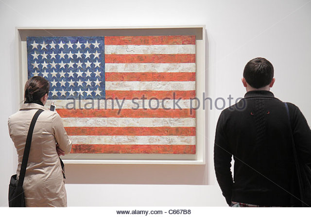 New York New York City NYC Midtown Manhattan 53rd Street The Museum of Modern Art MoMA gallery exhibition painting - Stock Image