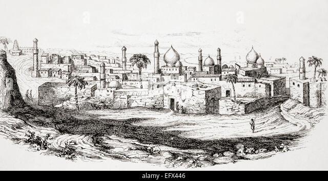 Baghdad, Iraq, after a mid-19th century illustration. - Stock-Bilder