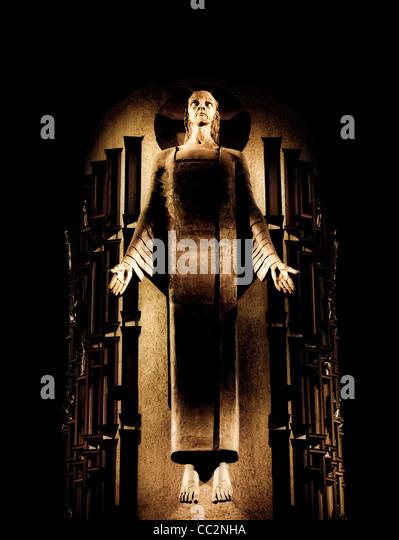 Statue of Jesus Christ at Llandaff Catherdral, Cardiff UK - Stock Image