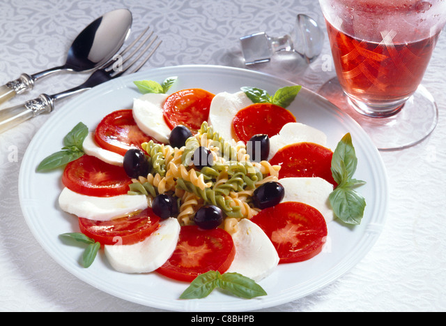 Tomato and Mozzarella salad - Stock-Bilder