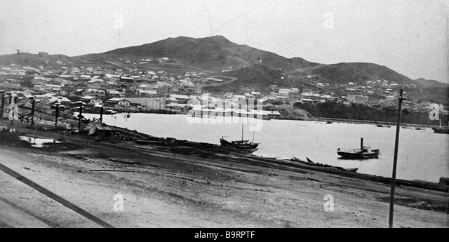 View of Vladivostok the late 19th century - Stock Image