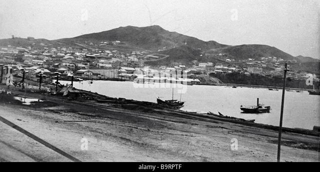 View of Vladivostok the late 19th century - Stock Image
