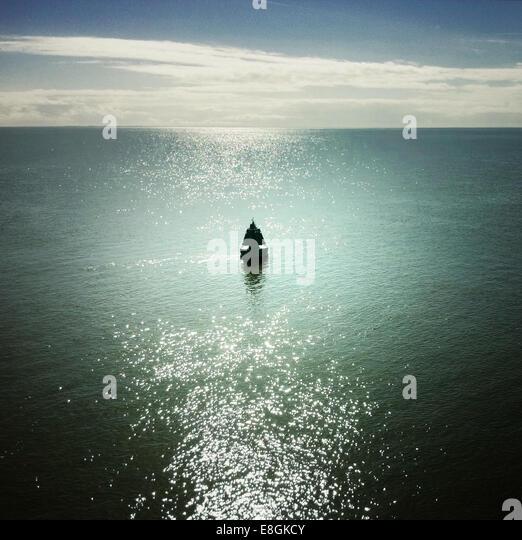 View of buoy at sea - Stock Image