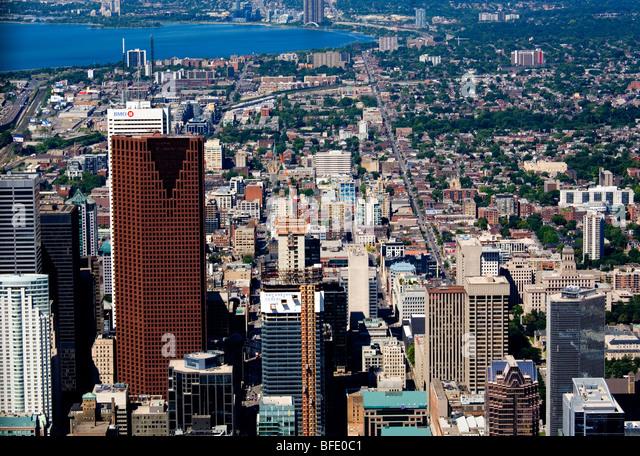Aerial view of downtown Toronto, Ontario, Canada - Stock Image