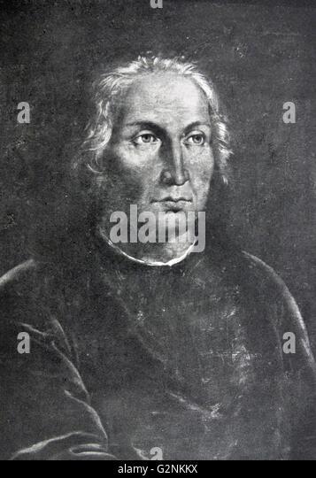 A portrait of Columbus. - Stock-Bilder