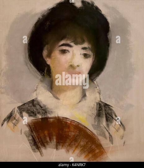 Portrait of Countess Albazzi, by Edouard Manet, 1880, Solomon R. Guggenheim Museum, Manhattan, New York City, USA, - Stock Image