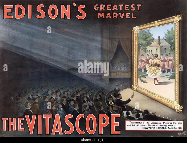Vitascope was an early film projector first demonstrated in 1895 by Charles Francis Jenkins and Thomas Armat. - Stock Image