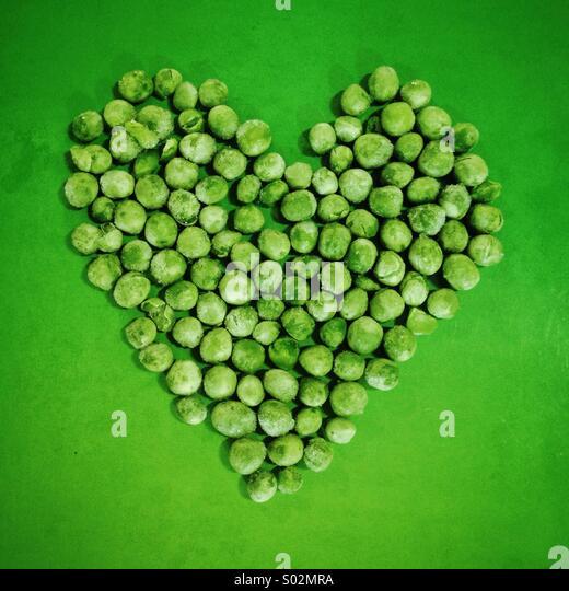 Love peas - Stock Image