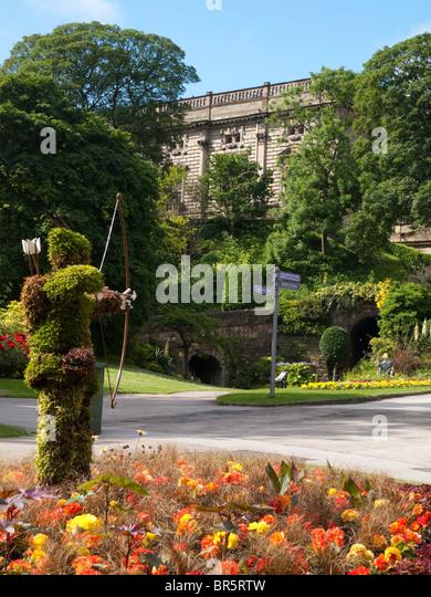 Nottingham Castle, Nottinghamshire England UK - Stock Image