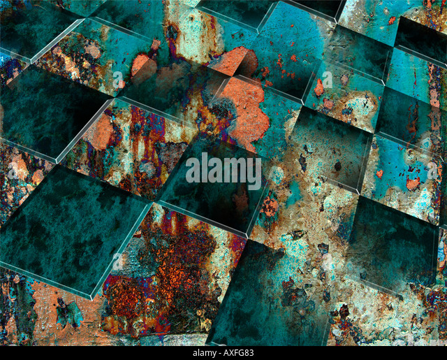Checkerboard Merged With Abstract Colors - Stock Image