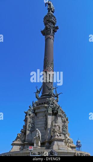 The Columbus Monument in Barcelona, Spain. - Stock-Bilder