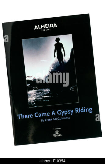 Programme for the 2007 production of There Came a Gypsy Riding by Frank McGuinness at the Almeida Theatre. - Stock Image