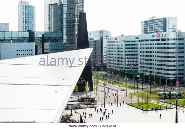 Central station roof, Rotterdam, Holland - Stock Image