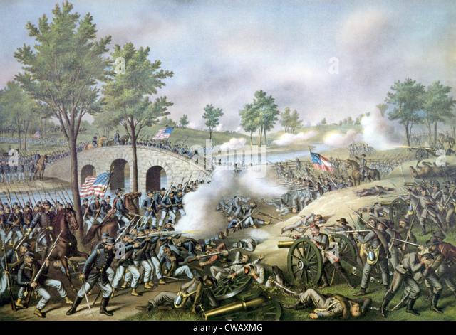 The Battle of Antietam, September 17, 1862 - Stock Image
