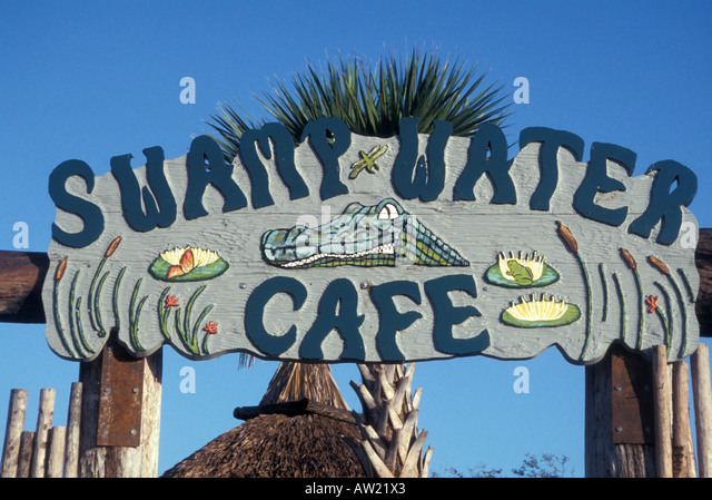 Florida Seminole Indian Swamp Water Cafe - Stock Image