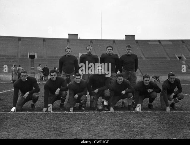 Yale Football team, ca 1940 - Stock Image