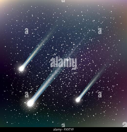 Space Pattern Background With Planets Stars And Comets Stock Vector