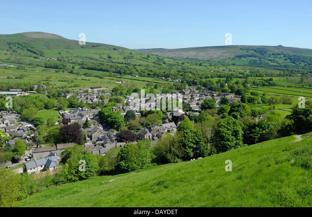 Castleton Derbyshire England Village Stock Photos