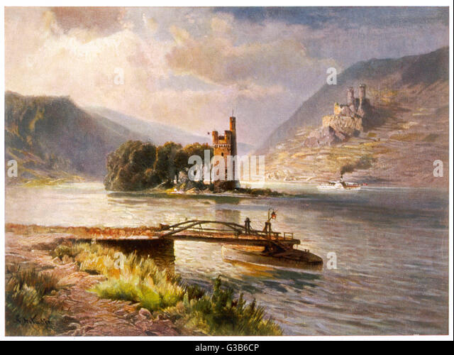Der Mauseturm in the Rhein -  the subject of legend - Stock Image