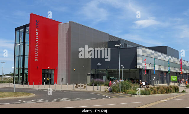 Silverstone UTC building at the circuit, heart of British Motorsport - Stock Image