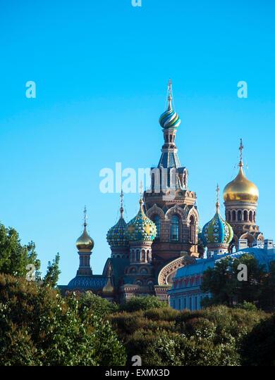 Church of the Savior on Blood, Saint Petersburg - Stock Image