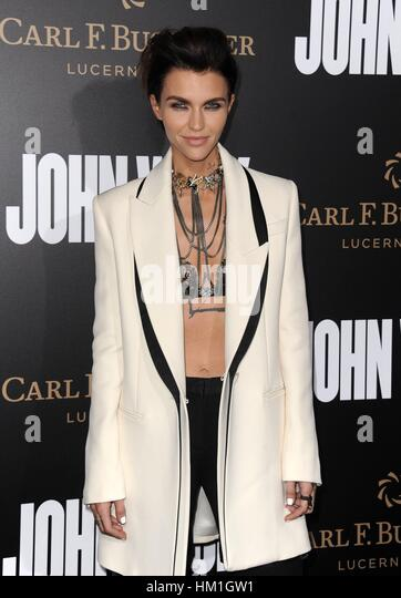 Los Angeles, CA, USA. 30th Jan, 2017. Ruby Rose at arrivals for JOHN WICK: CHAPTER TWO Premiere, Arclight Hollywood, - Stock Image
