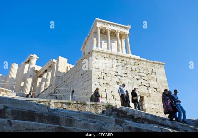 Temple of Athena Nike, the Acropolis, Athens, Greece, Europe - Stock-Bilder