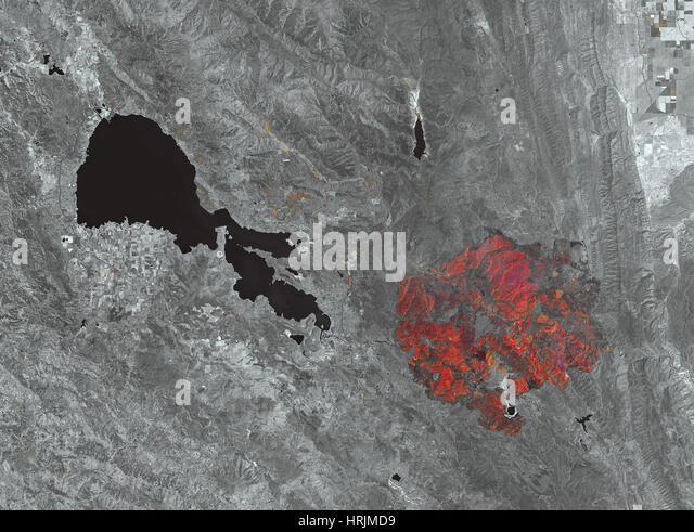 Burn Scar, Rocky Fire, California, 2015 - Stock Image
