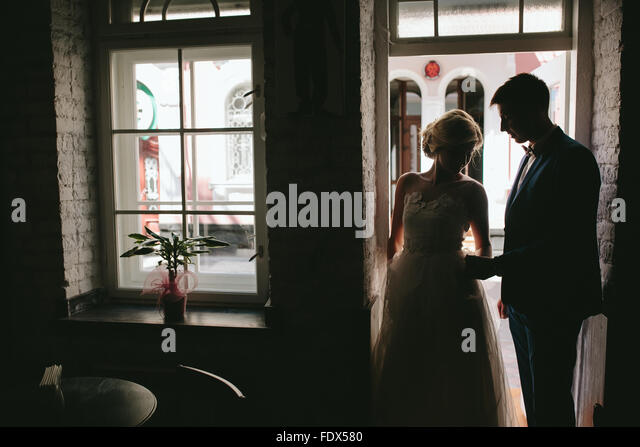 bride and groom in wedding day - Stock-Bilder