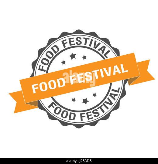 Food festival stamp illustration - Stock Image