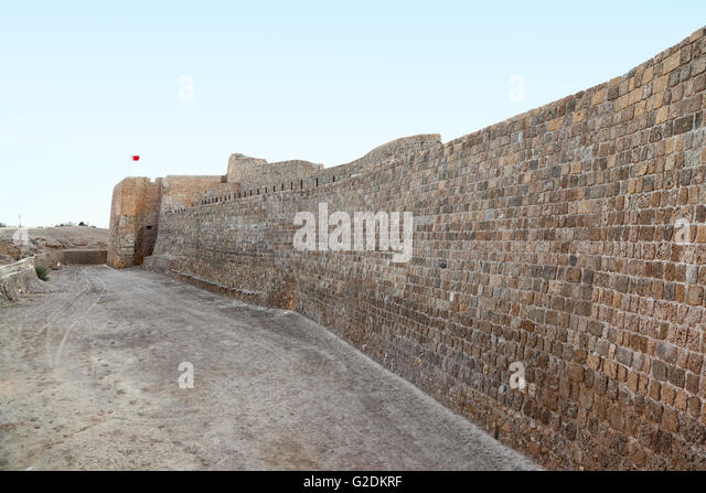 Bahrain Fortress, Manama - Bahrain - Stock Image