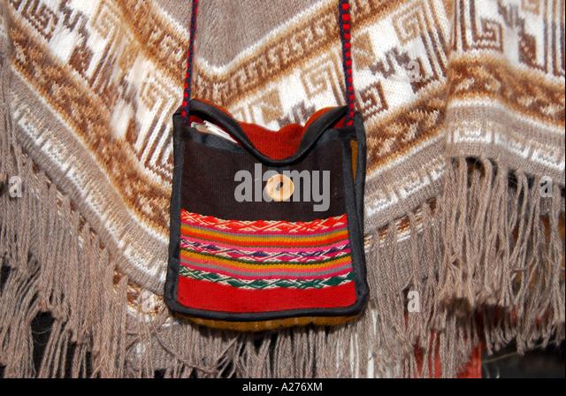 Chile Santiago Pueblito de Los Domínicos shopping tradtional clothing - Stock Image