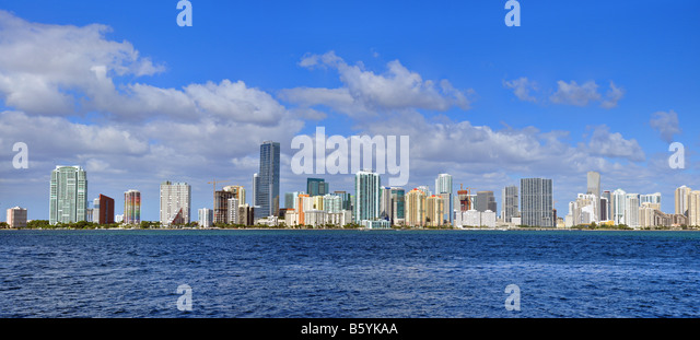 Miami skyline - Stock Image