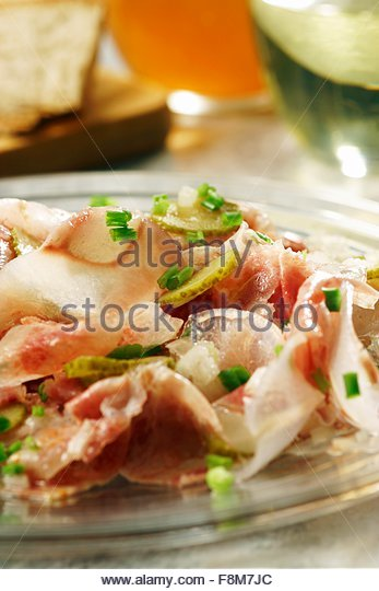Swabian ox muzzle salad - Stock Image