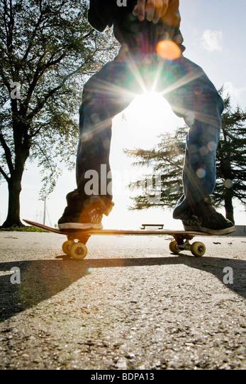 A skateboarder Finland. - Stock Image