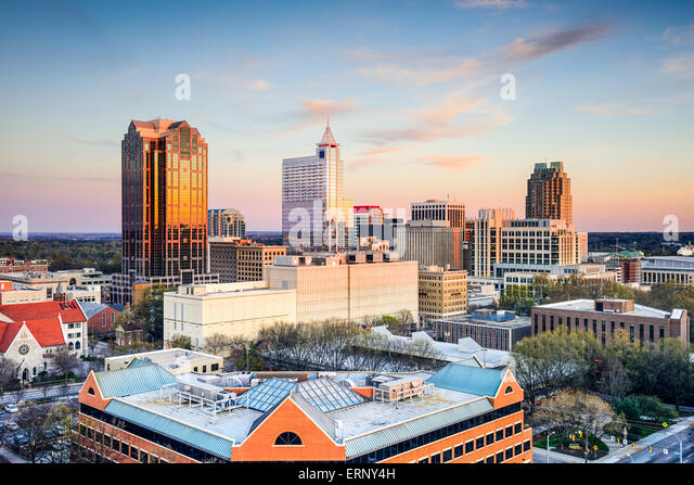 Raleigh, North Carolina, USA downtown city skyline. - Stock Image
