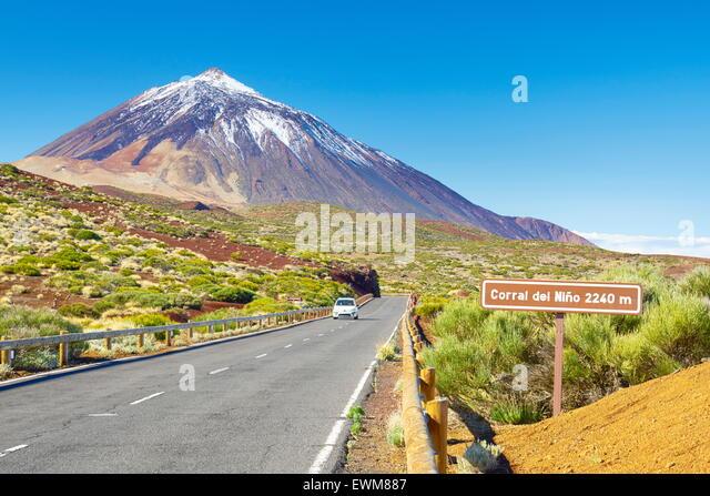 Tenerife, Canary Islands - the Road TF-24, Teide National Park, Spain - Stock-Bilder