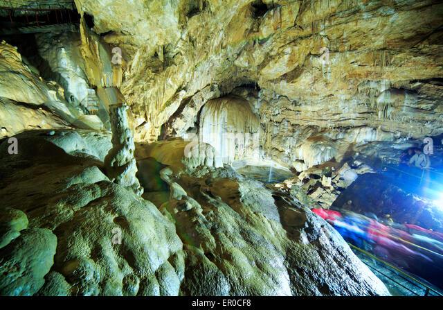New Athos Cave Caucasus mountains underground Abkhazia Georgia - Stock Image