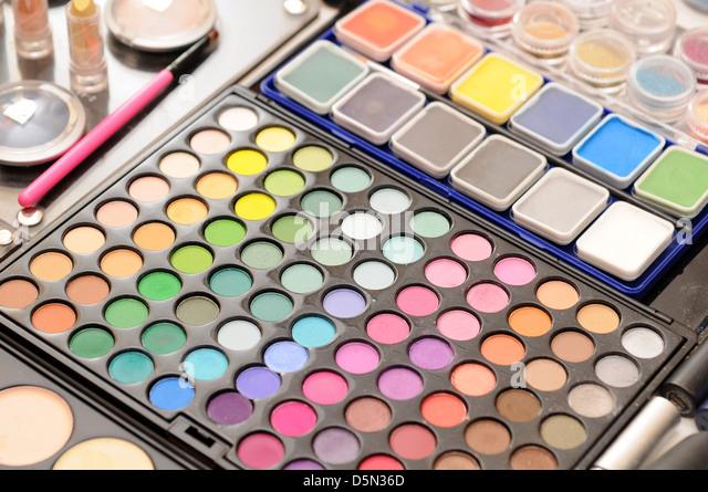 makeup pallet - Stock Image