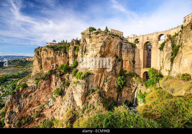 Ronda, Spain at Puente Nuevo Bridge. - Stock-Bilder