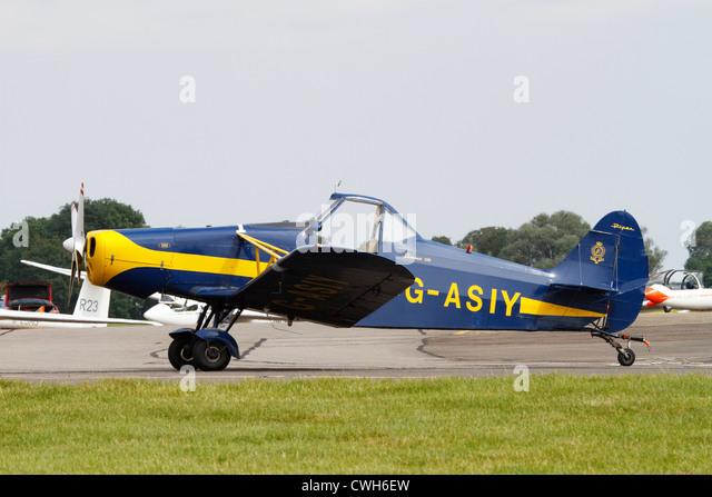Piper Pawnee glider Tug of the RAFGSA. - Stock Image
