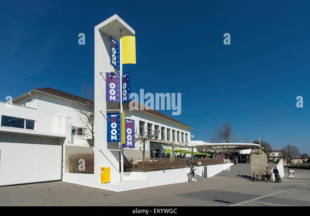 Zoo entrance, Zürich, Canton of Zürich, Switzerland - Stock Image