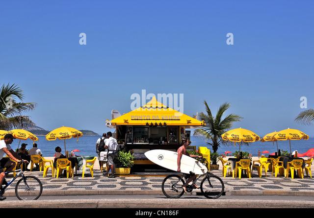 Bar Ipanema beach Rio de Janeiro Brazil - Stock Image