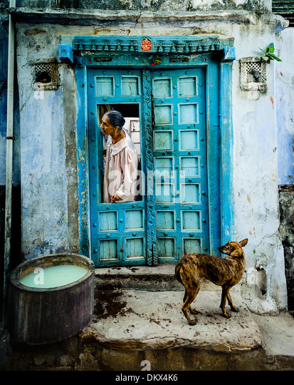 Phalodi, India Rajasthan woman - Stock-Bilder