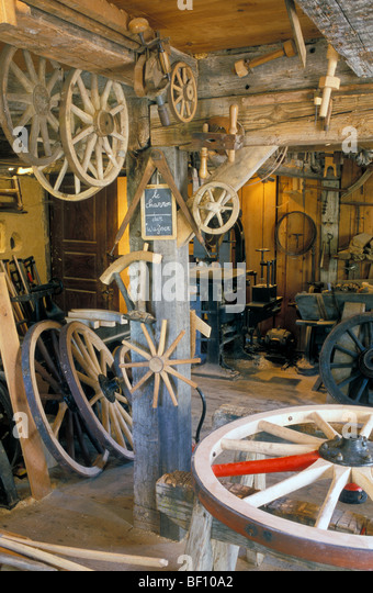 Wainwright Factory, Open Air Museum Ecomusee, near Mulhouse, Alsace, France - Stock Image